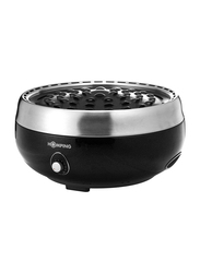 Homping Smokeless Charcoal Grill, 528200, Black