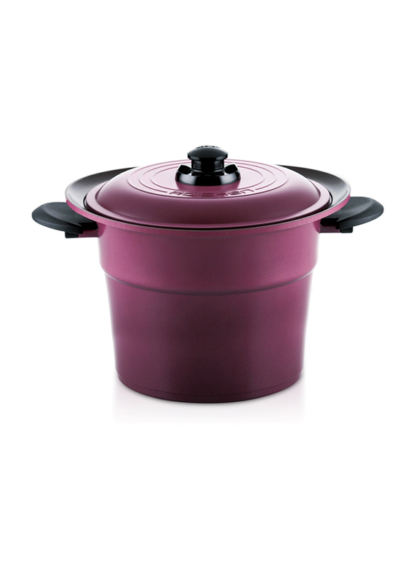 Roichen 6.4 Ltr Round Ceramic Smart Pot Casserole, 2.25 Kg, 67x30x18.4cm, Violet