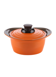 Roichen 20cm Premium Ceramic Casserole, 1.5 Kg, 38x20.5x8.5cm, Orange