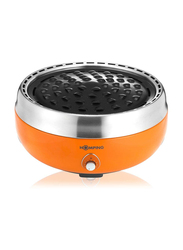 Homping Smokeless Charcoal Grill, Orange-528205, Orange