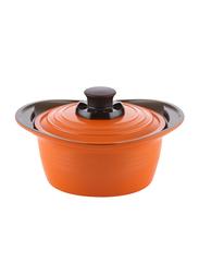 Roichen 24cm Premium Ceramic Casserole, 2.1 Kg, 33x27.3x11cm, Orange