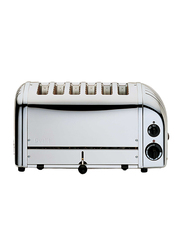 Dualit 6-Slice Toaster, 3000W, D6BMHA-GB, Silver