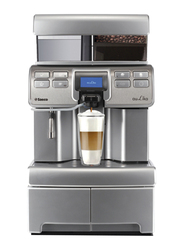 Saeco Aulika Mid Espresso Coffee Machine, 1400W, 10004471, Silver/Black