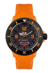 Ice Watch Analog Unisex Watch with Plastic Band, Water Resistant, DIOEXBR11, Orange-Black