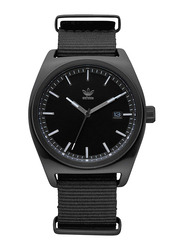 Adidas Analog Watch for Men with Nylon Band, Water Resistant, Z09234100, Black