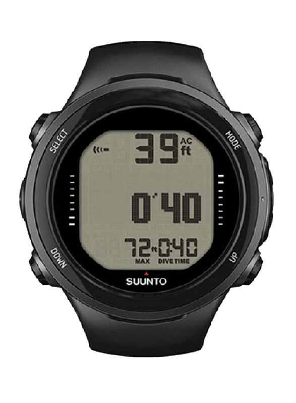Suunto D4I Novo Digital Unisex Watch with Silicone Band, Water Resistant, SS020365000, Black