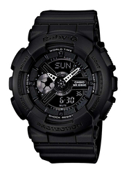Casio Baby G Analog/Digital Watch for Women with Plastic Band, Water Resistant, BA110BC1A, Black