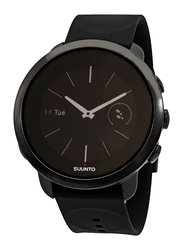 Suunto 3 Fitness Analog/Digital Unisex Smart Watch with Silicone Band, Water Resistant, SS050020000, Black