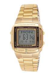 Casio Digital Watch for Men with Stainless Steel Band, Water Resistant, DB360G9ADF, Gold