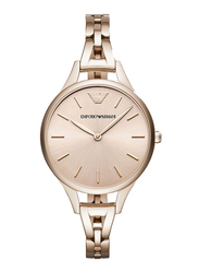 Emporio Armani Analog Watch for Women with Stainless Steel Band, Water Resistant, AR11055, Rose Gold