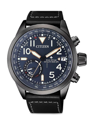 Citizen Gps Analog Watch for Men with Leather Band, Water Resistant, CC306711L, Blue