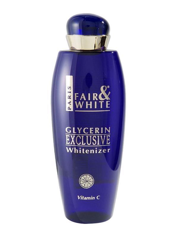 Fair & White Exclusive Glycerin Whitenizer Serum with Vitamin C, Blue, 250ml