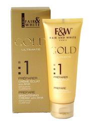 Fair & White Gold Ultimate Prepare Brightening Cream with AHA Exfoliating Clarifying, 75ml