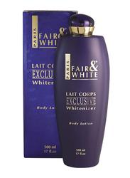 Fair & White Exclusive Whitenizer Body Lotion, Blue, 500ml