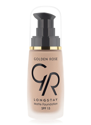 Golden Rose Longstay Liquid Matte Foundation, No. 07, Brown
