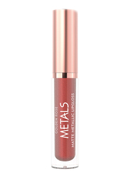 Golden Rose Matte Metallic Lip Gloss, No. 56 Rosewood, Pink