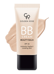 Golden Rose BB Cream Beauty Balm, 01 Light, Beige