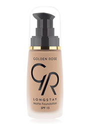 Golden Rose Longstay Liquid Matte Foundation, No. 09, Brown
