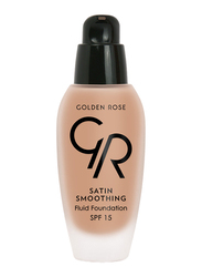 Golden Rose Satin Smoothing Fluid Foundation, No. 30, Beige