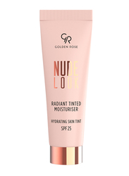 Golden Rose Nude Look Radiant Tinted Moisturizer Hydrating Skin Tint with SPF 25, No. 03 Deep Tint, Brown
