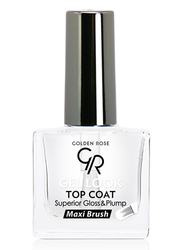 Golden Rose Gel Look Top Coat Nail Lacquer, Clear