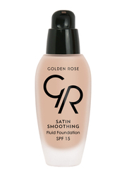 Golden Rose Satin Smoothing Fluid Foundation, No. 28, Beige