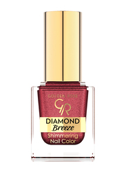 Golden Rose Diamond Breeze Shimmering Nail Color, No. 04 Plum Sparkle, Red