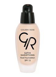 Golden Rose Satin Smoothing Fluid Foundation, No. 23, Beige