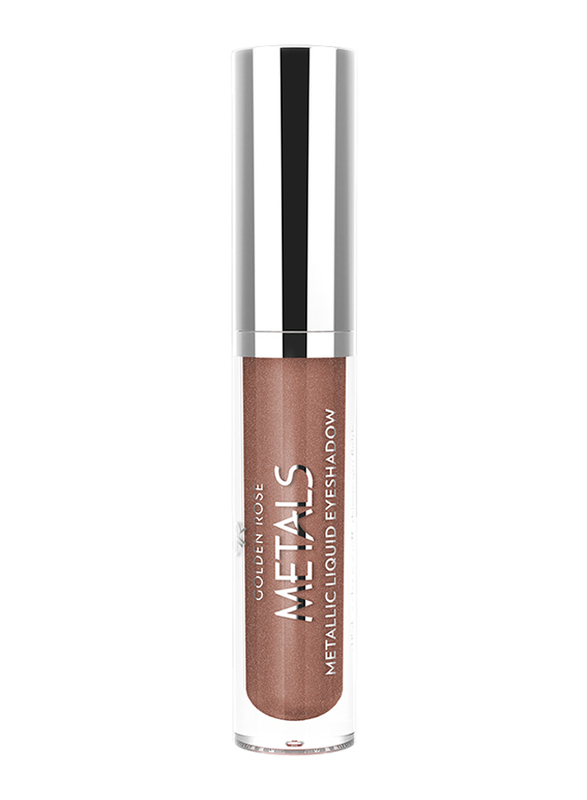 Golden Rose Metals Metallic Liquid Eyeshadow, 108 Copper Dust, Brown