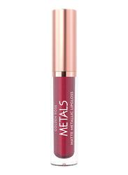 Golden Rose Matte Metallic Lip Gloss, No. 57 Ruby, Pink