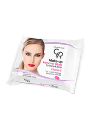 Golden Rose Make Up Removing Wet Wipes, 25 Pieces, White