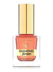 Golden Rose Diamond Breeze Shimmering Nail Color, No. 03 Russet Sparkle, Orange