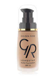 Golden Rose Longstay Liquid Matte Foundation, No. 12, Brown