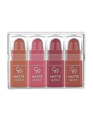 Golden Rose 4-Pieces Nude Collection Matte Lipstick Set, Mix 1, Multicolour