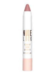 Golden Rose Nude Look Creamy Shine Lipstick, No. 03 Peachy Nude, Pink