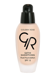 Golden Rose Satin Smoothing Fluid Foundation, No. 22, Beige