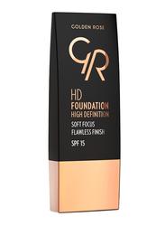 Golden Rose HD Foundation High Definition SPF 15, No. 103 Almond, Beige