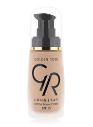 Golden Rose Longstay Liquid Matte Foundation, No. 08, Brown