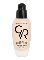 Golden Rose Satin Smoothing Fluid Foundation, No. 24, Beige