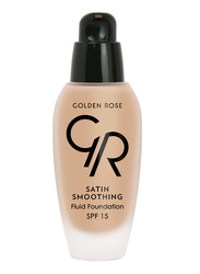Golden Rose Satin Smoothing Fluid Foundation, No. 35, Brown