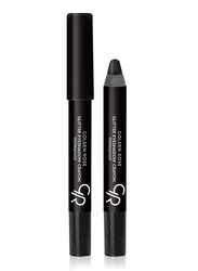 Golden Rose Glitter Waterproof Eyeshadow Crayon, No. 51, Black