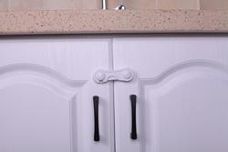 Vee Seven Child Protective Cupboard Lock, 2 Pieces, White