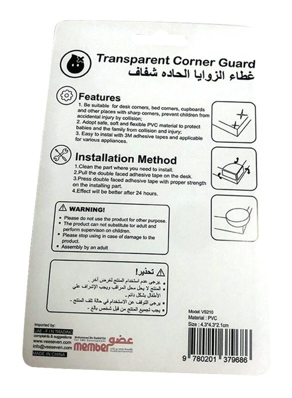 Vee Seven Child Protective Transparent Corner Guard, 4 Pieces, Transparent