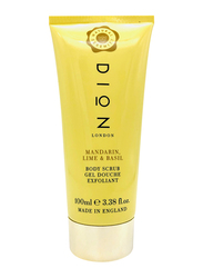 Dion London Mandarin Lime & Basil Body Scrub, 100ml