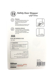 Vee Seven Child Protective Safety Door Stopper, 2 Pieces, White
