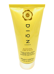 Dion London Mandarin Lime & Basil Hand & Nail Cream, 100ml
