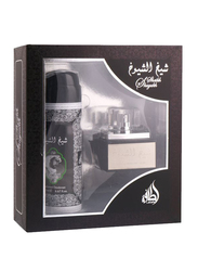 Lattafa 2-Piece Sheikh Al Shuyukh Gift Set for Men, 50ml EDP, 200ml Deodorant