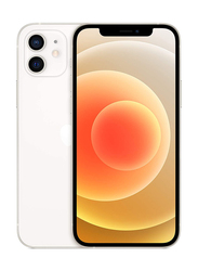 Apple iPhone 12 64GB White, With FaceTime, 4GB RAM, 5G, Dual Sim Smartphone, HK Specs