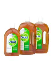 Dettol Anti-Bacterial Antiseptic Disinfectant Liquid, 2 x 1 Liters + 500ml