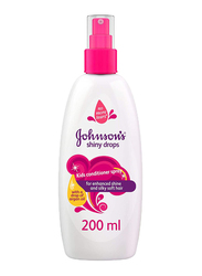 Johnson's 200ml Shiny Drops Kids Conditioner Spray, with Drop of Argan Oil for Kids